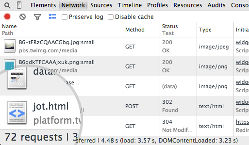 Network requests.