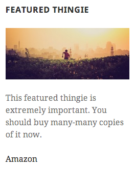 Featured Content Widget With Image
