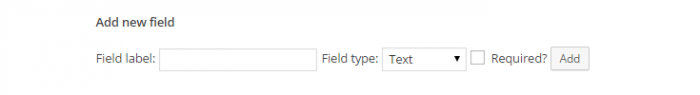 "The ""Add new field"" setting under the""Additional fields"" option."