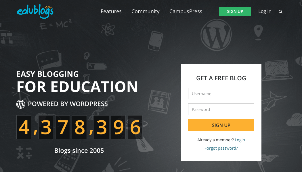 Edublogs is the largest free blogging service for education in the world – and runs on Multisite.