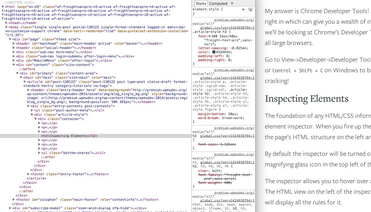 Leveraging Chrome Developer Tools for WordPress Development