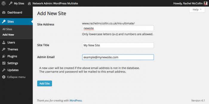 multisite-add-new-site