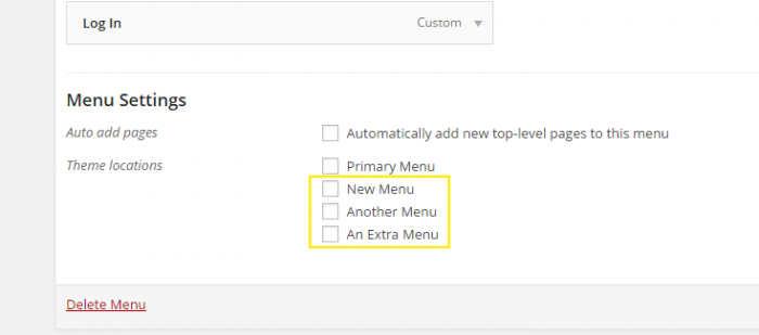 "The newly created menus are now visibly listed under ""Menu Settings"" in the dashboard under Appearance > Menus."