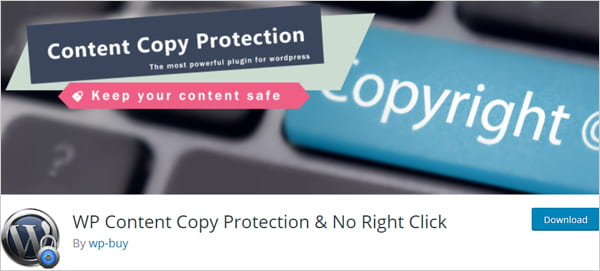 WP Content Copy Protection & No Right Click WordPress plugin