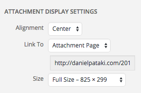 Attachment page link