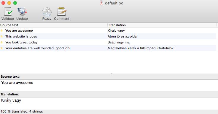 Translated strings in Poedit