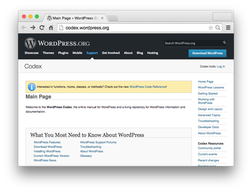 Don't reinvent the wheel! The Codex is the first place you should look for detailed information about WordPress code.