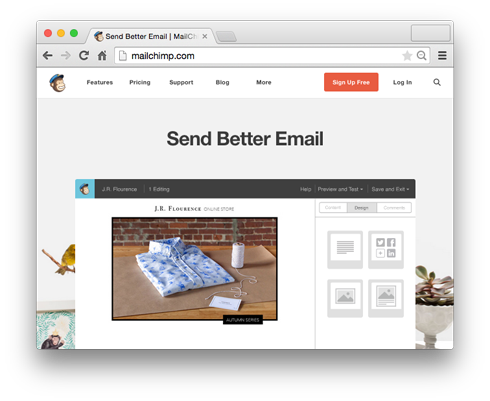 Mailchimp is a great service for organizing your mailing lists.