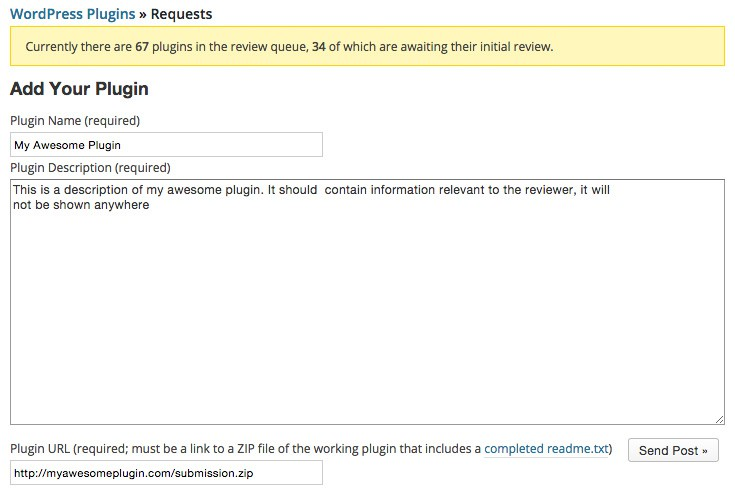 Plugin Submission Form