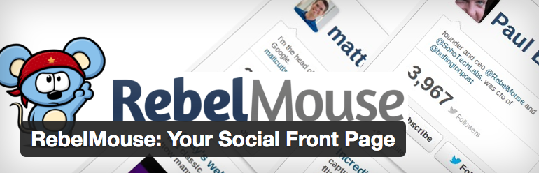 RebelMouse is one social feed option.