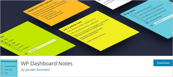 WP Dashboard Notes - WordPress dashboard plugin.