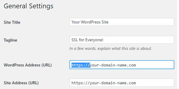 Change the WordPress & Site URLs in your site's General Settings