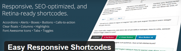 Easy Responsive Shortcodes plugin