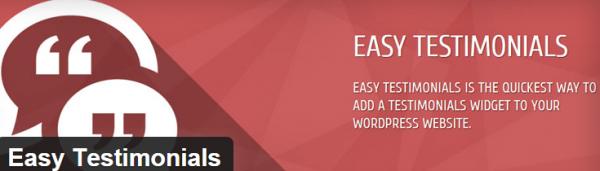 Easy Testimonials plugin