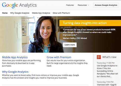 Looking at analytics data is an important step.