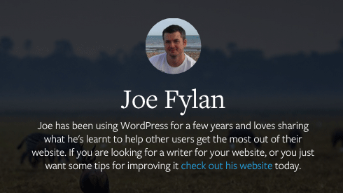My author profile here on the WPMU DEV Blog. Ripe for improvement.
