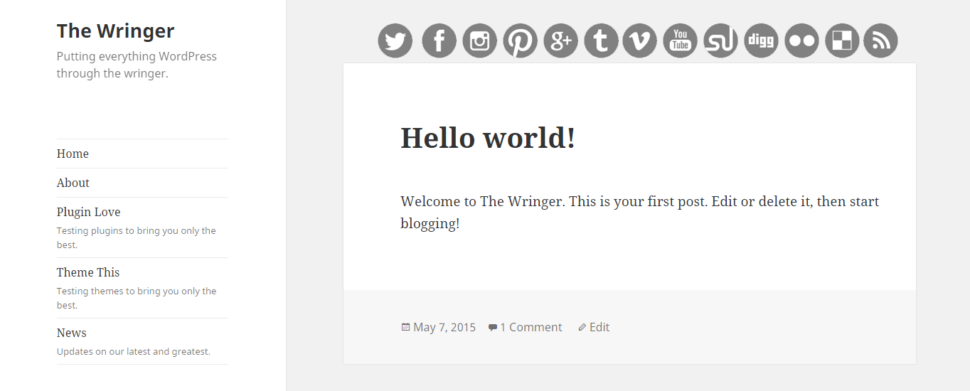 The new pseudo blogs are listed in the menu.