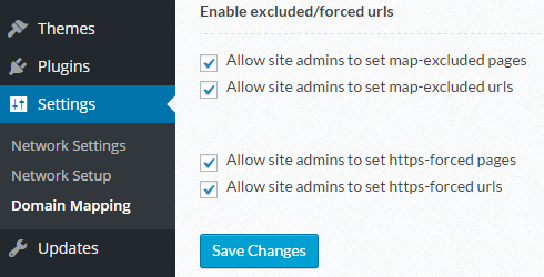 The options for letting users control domain mapping and forced https for their sites.