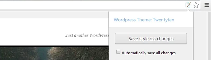 WordPress Style Editor extension