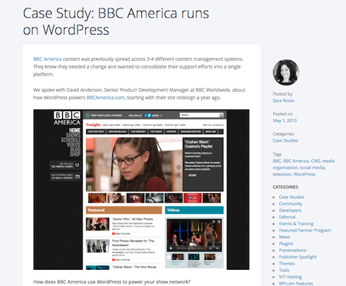 WordPress VIP hosts BBC America.