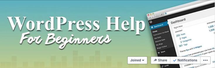 wordpress help for beginners facebook