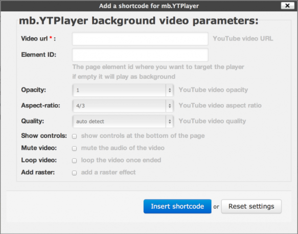 Setting up a video background is actually pretty easy.