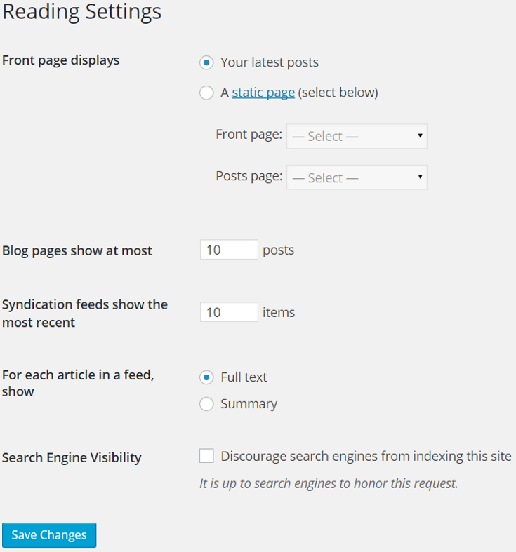 Establishing baseline settings for WordPress is your step one.