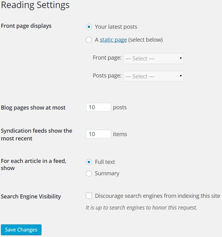 Establishing baseline settings for WordPress is your step one.