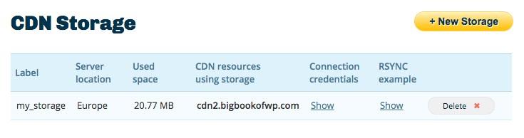 CDN Storages