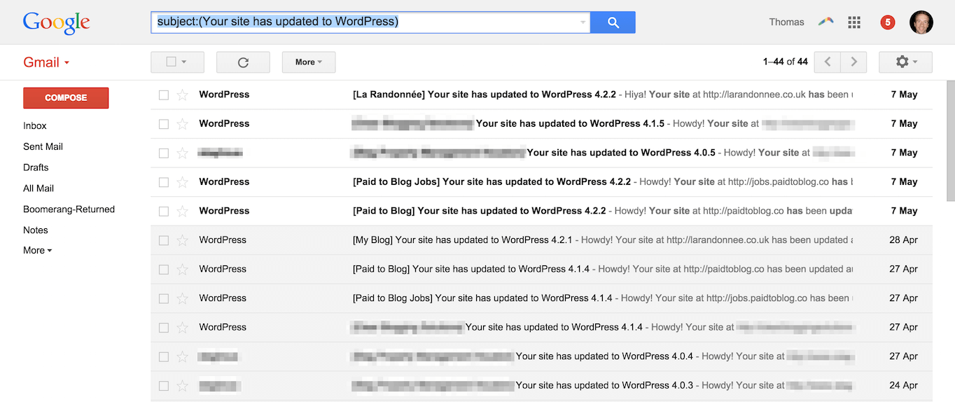 Gmail subject search filter
