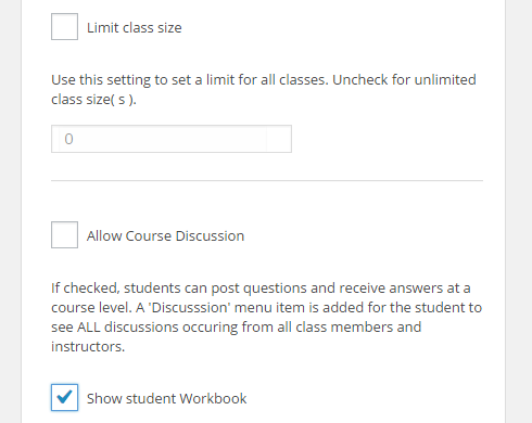 "In ""Step 5,"" the only checkbox selected is the one for the option ""Show student Wordkbook."""