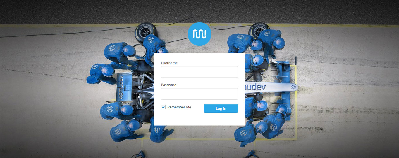 Our customized login page.