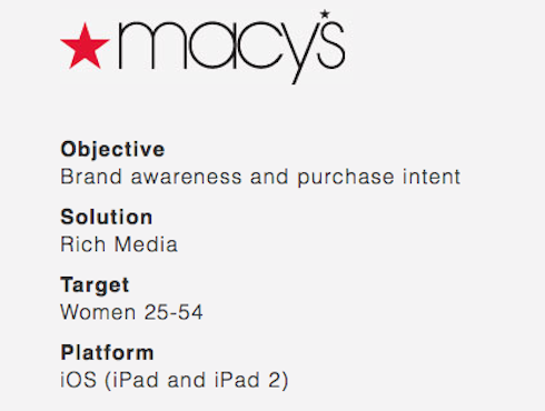 A case study from Macy's.
