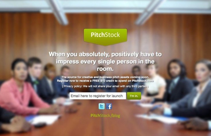 Pitchstock coming soon page