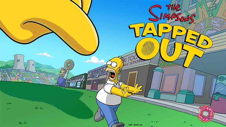 The Simpsons: Tapped Out loading screen.