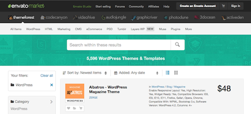 With over 5,500 themes on Themeforest, it's easy to get bogged down by the selection.