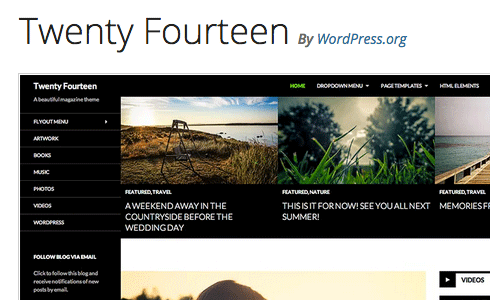 Twenty Fourteen was created by core WordPress developers.