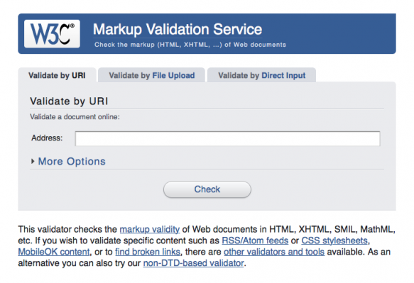 Check that your code is standards-compliant with the W3C validator