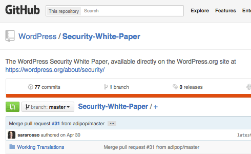 The WordPress Security White Paper.