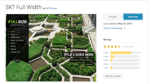 Listings in the theme directory can tell you a lot about a potential theme.
