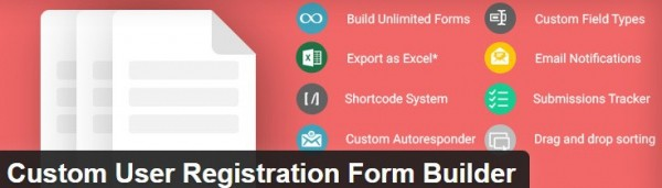 Custom User Registration Form Builder plugin