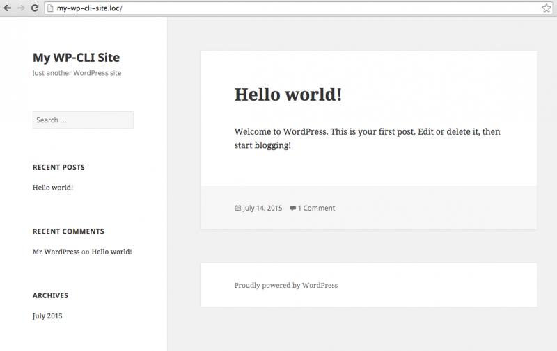 Demo WP-CLI Site