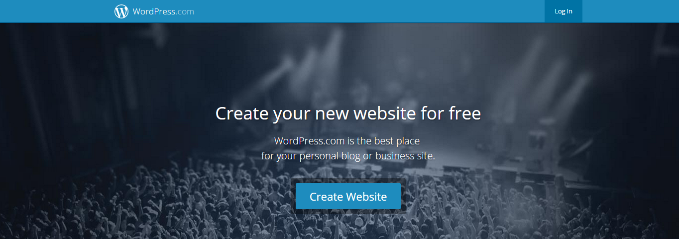 The front page of WordPress.com