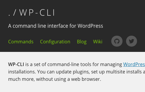 WP-CLI is a command line interface for WordPress.