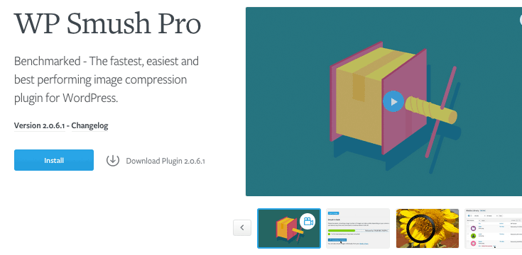 WP Smush Pro is our premium smushing plugin.