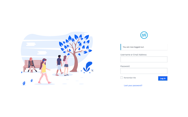 Example of a custom login page