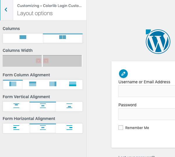 Adjust the layout of your page and the login form