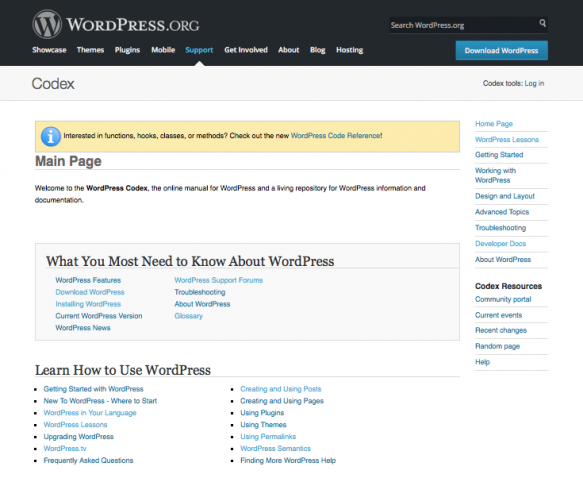 The front page for contributing to WordPress core