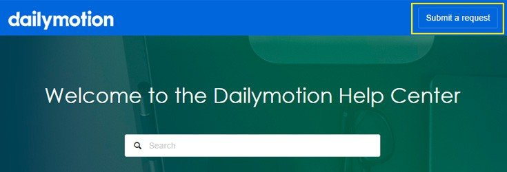 Dailymotion help center