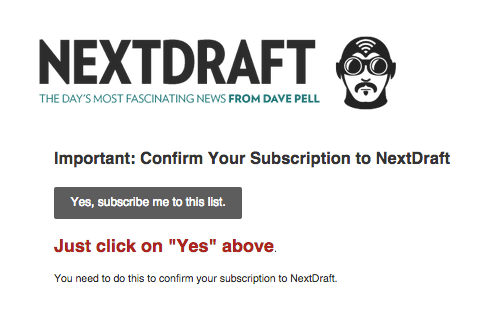 Nextdraft is a popular email newsletter sponsored by WordPress.com
